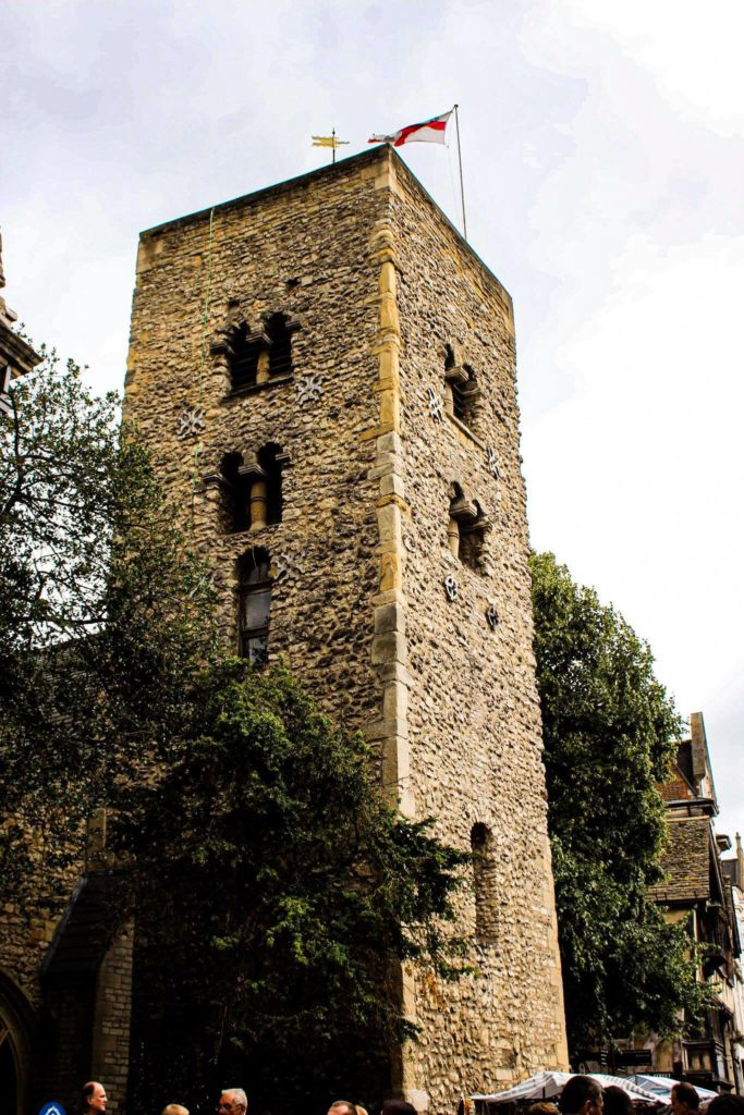 The Saxon Tower at St Michael at the North Gate