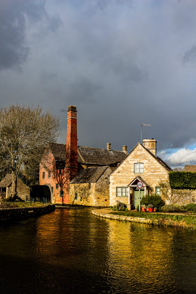 Cottages and water mill in Lower Slaughter