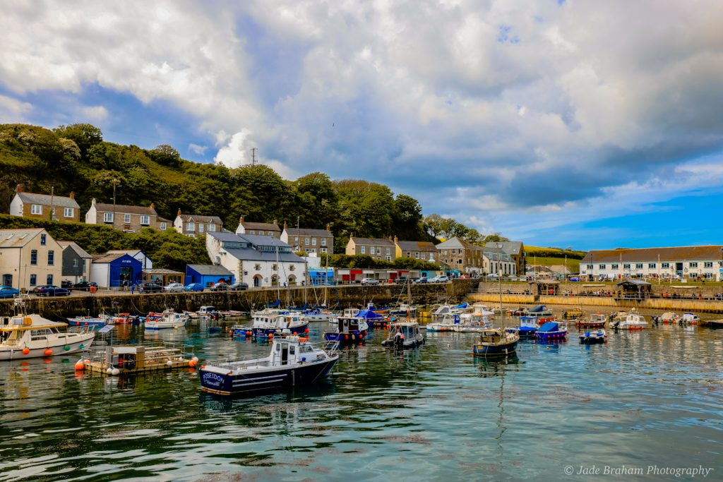 Porthleven Harbour, a fishing village in Cornwall