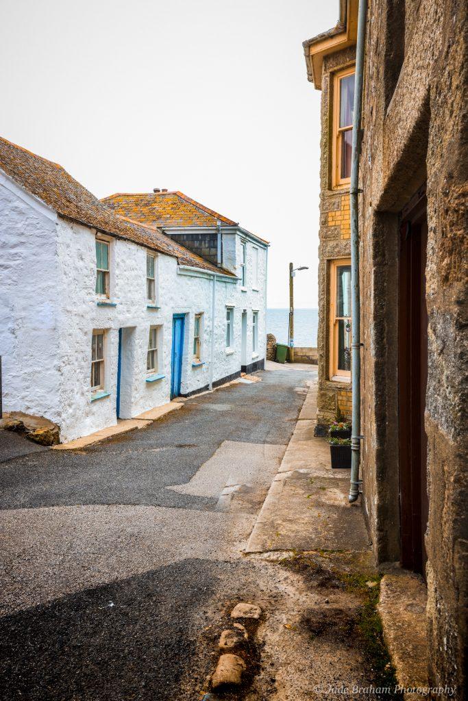 Streets in Marazion in Cornwall