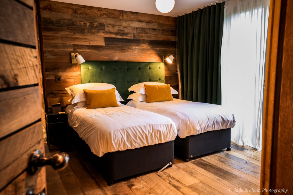 The twin room in Landlubber at the Merchants Manor Falmouth, Cornwall