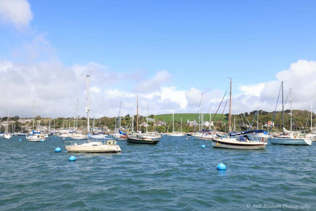 The sailing boats at Falmouth Harbour