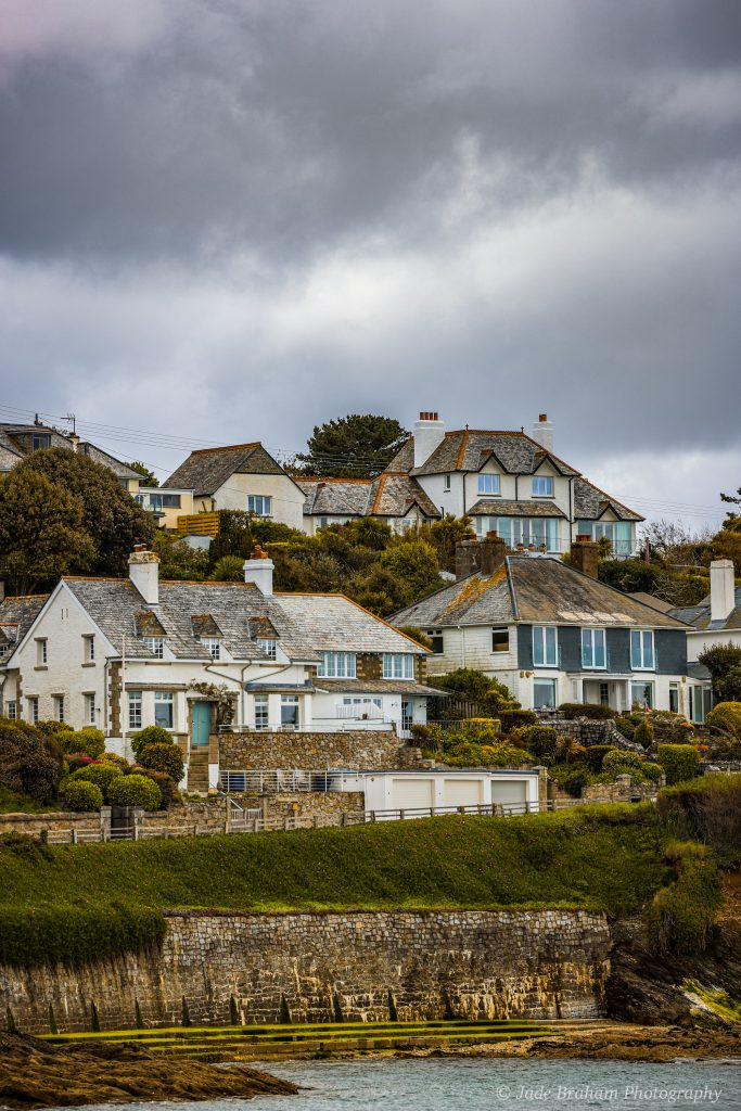 Houses overlooking the harbour in St Mawes in Cornwall