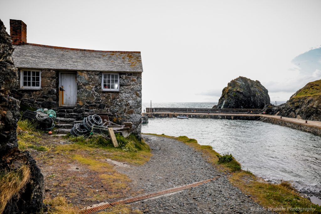 Mullion Cove, fishing village in Cornwall